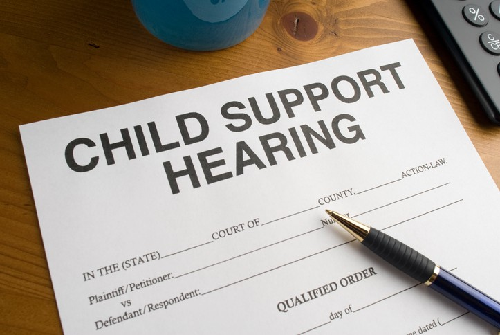 Child support hearing document