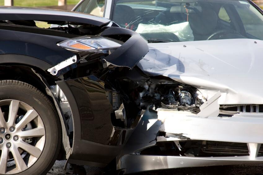 motor vehicles collide